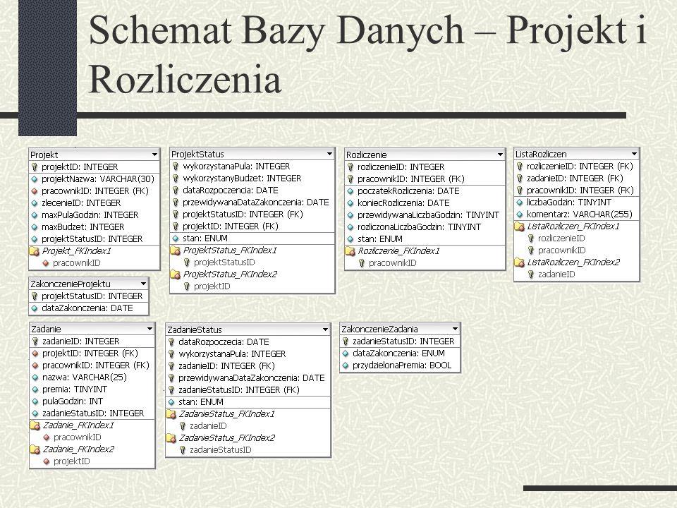 Schemat Bazy Danych – Projekt i Rozliczenia