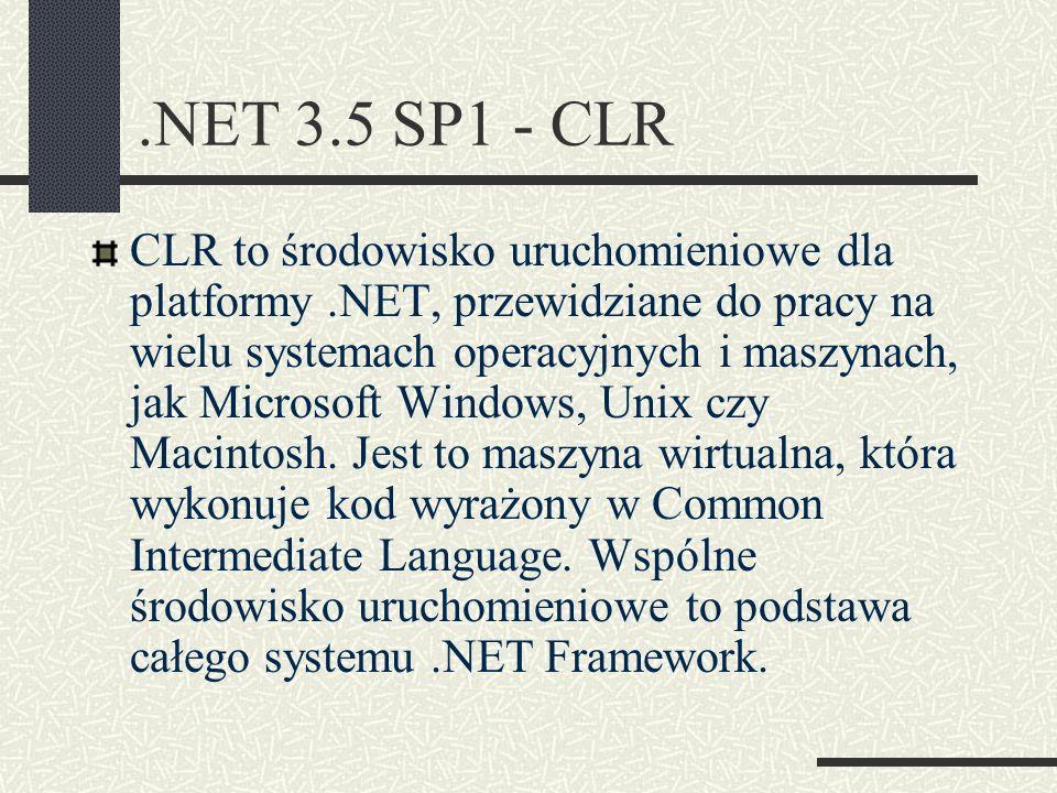.NET 3.5 SP1 - CLR