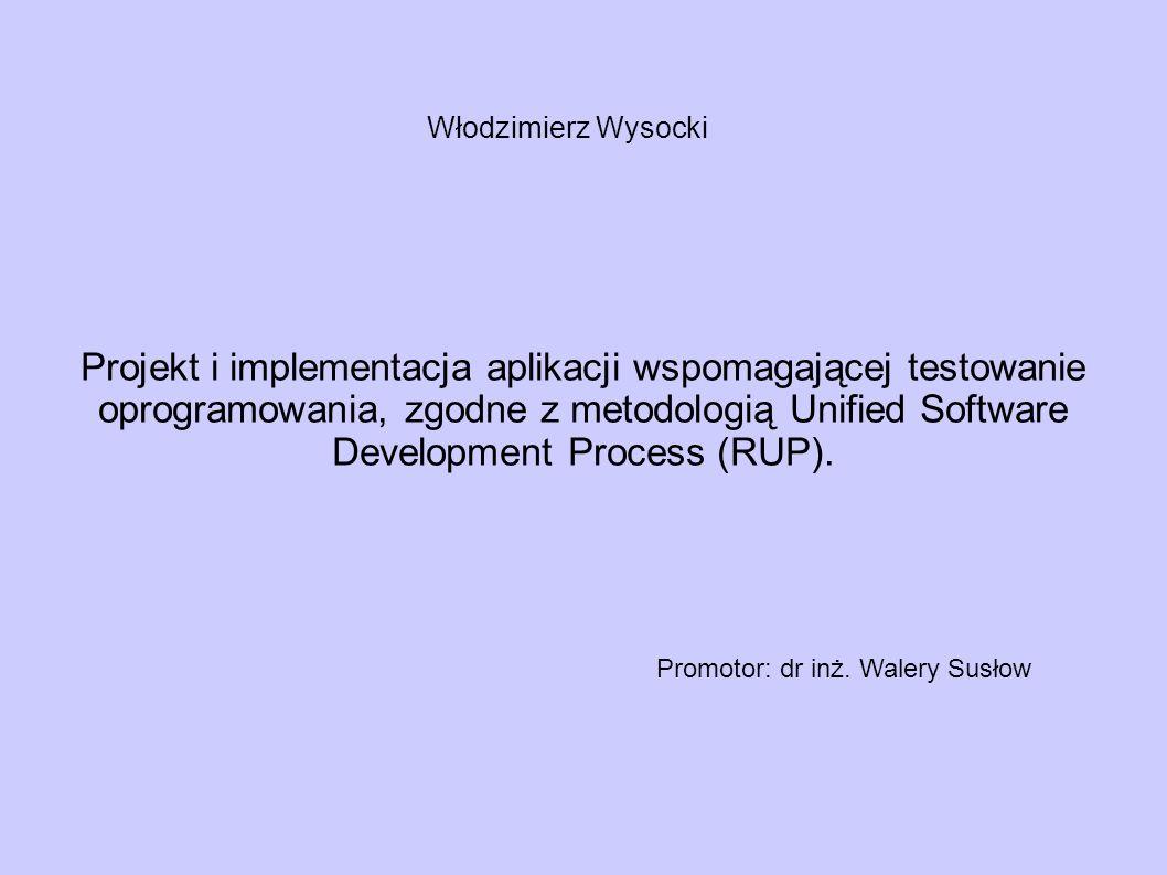 Projekt i implementacja aplikacji wspomagającej testowanie