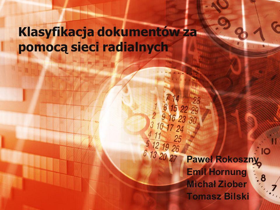 Klasyfikacja dokumentów za pomocą sieci radialnych