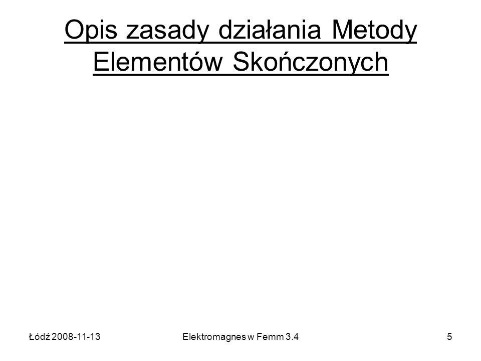 Opis zasady działania Metody Elementów Skończonych
