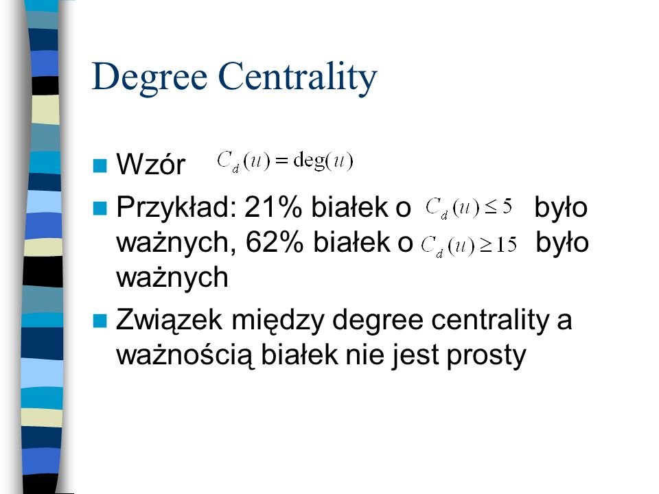 Degree Centrality Wzór