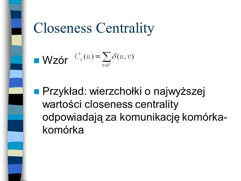 Closeness Centrality Wzór