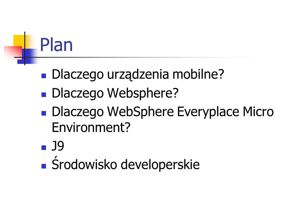 Plan Dlaczego urządzenia mobilne Dlaczego Websphere