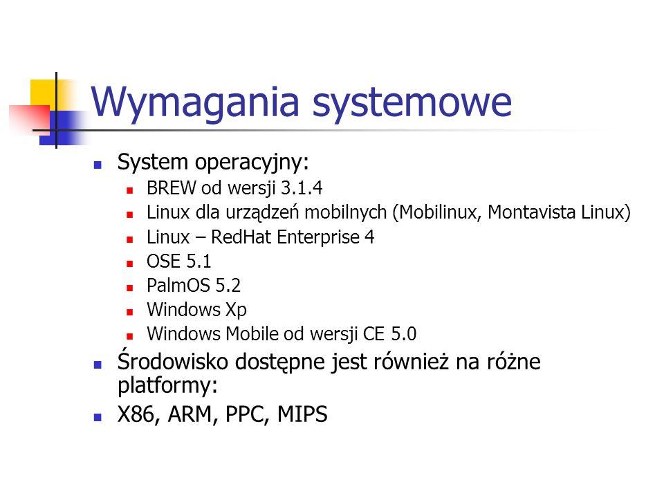 Wymagania systemowe System operacyjny: