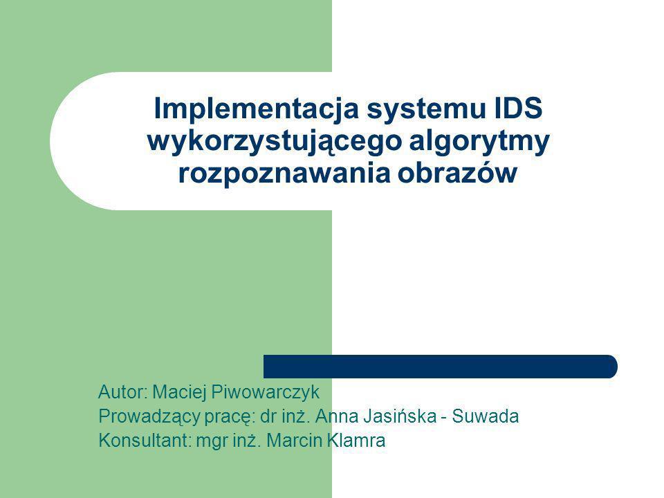 Implementacja systemu IDS wykorzystującego algorytmy rozpoznawania obrazów