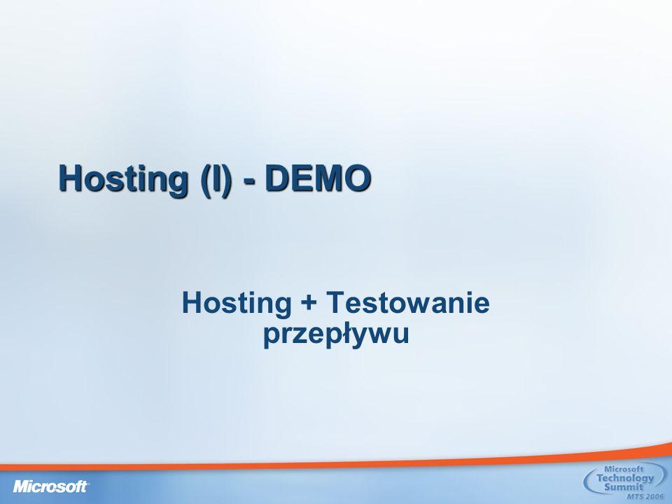 Hosting + Testowanie przepływu