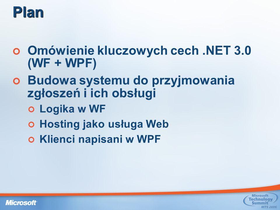 Plan Omówienie kluczowych cech .NET 3.0 (WF + WPF)