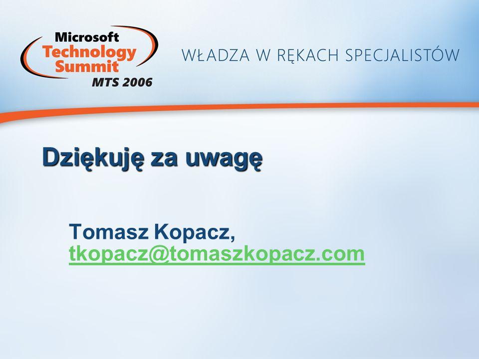 Tomasz Kopacz, tkopacz@tomaszkopacz.com