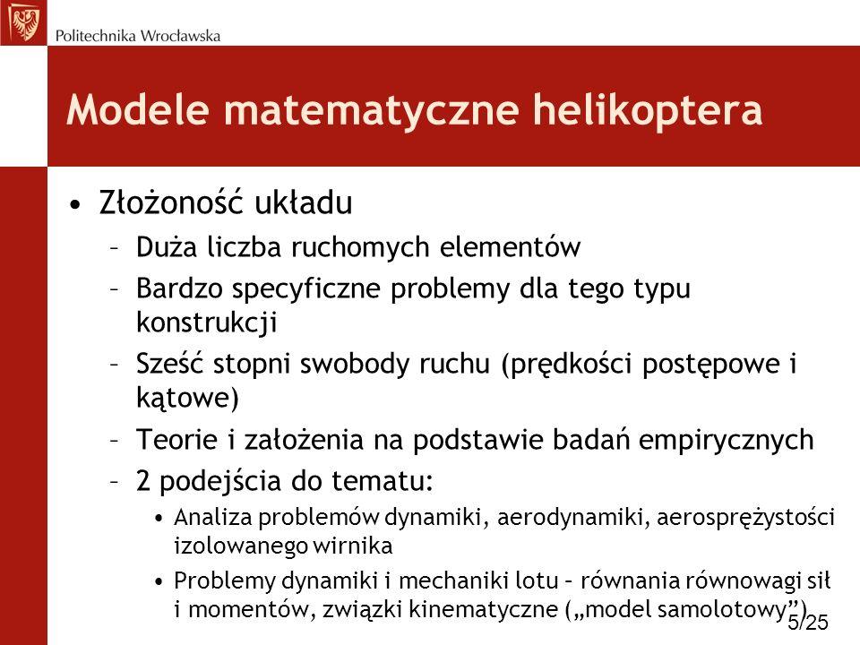 Modele matematyczne helikoptera