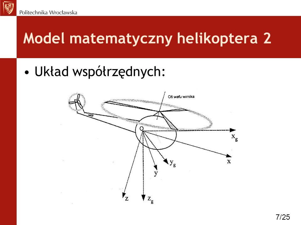 Model matematyczny helikoptera 2