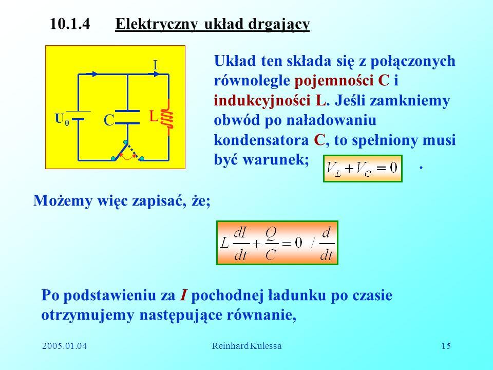 10.1.4 Elektryczny układ drgający