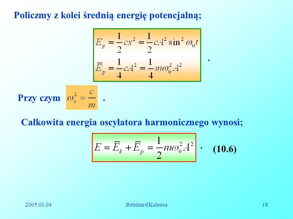 Policzmy z kolei średnią energię potencjalną;