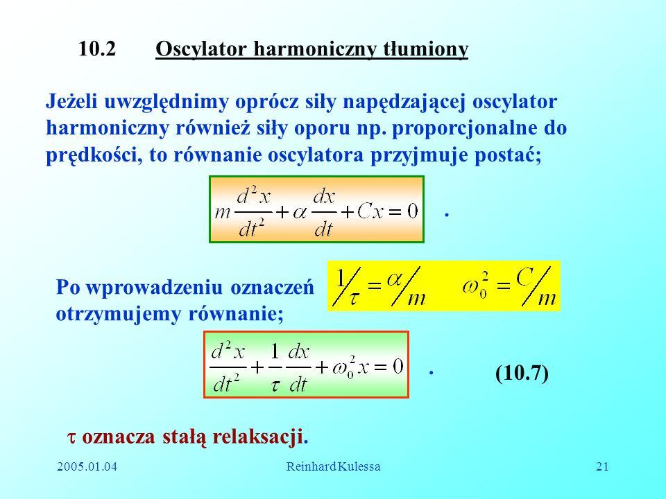 10.2 Oscylator harmoniczny tłumiony