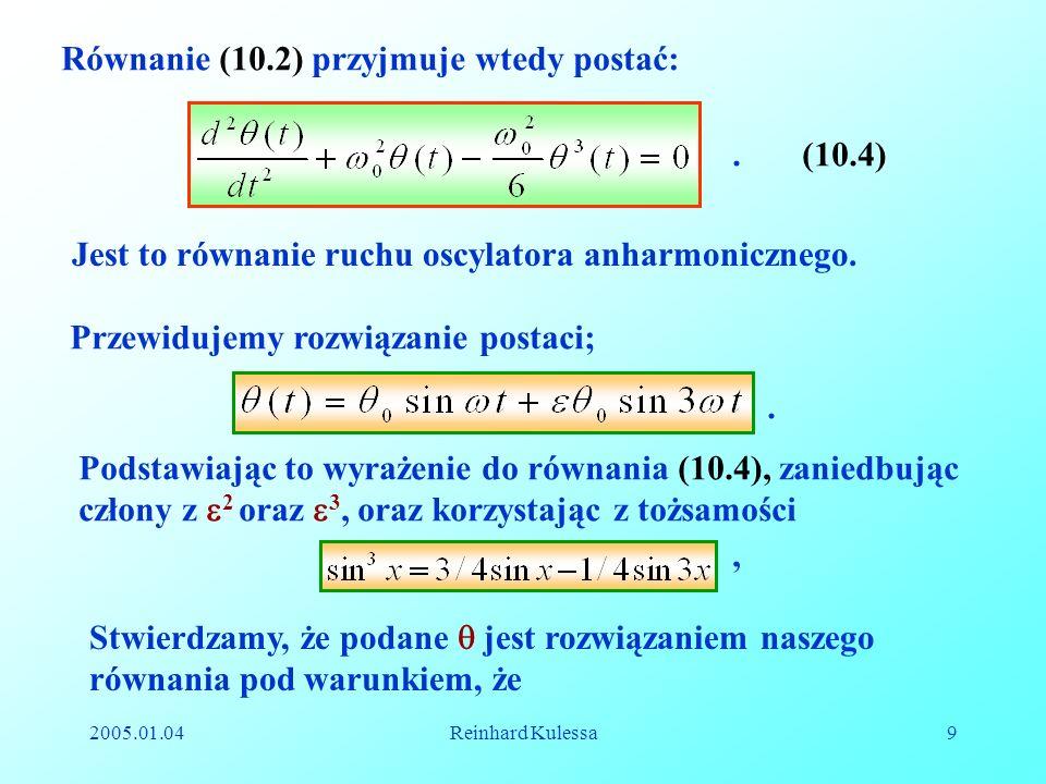 Równanie (10.2) przyjmuje wtedy postać: