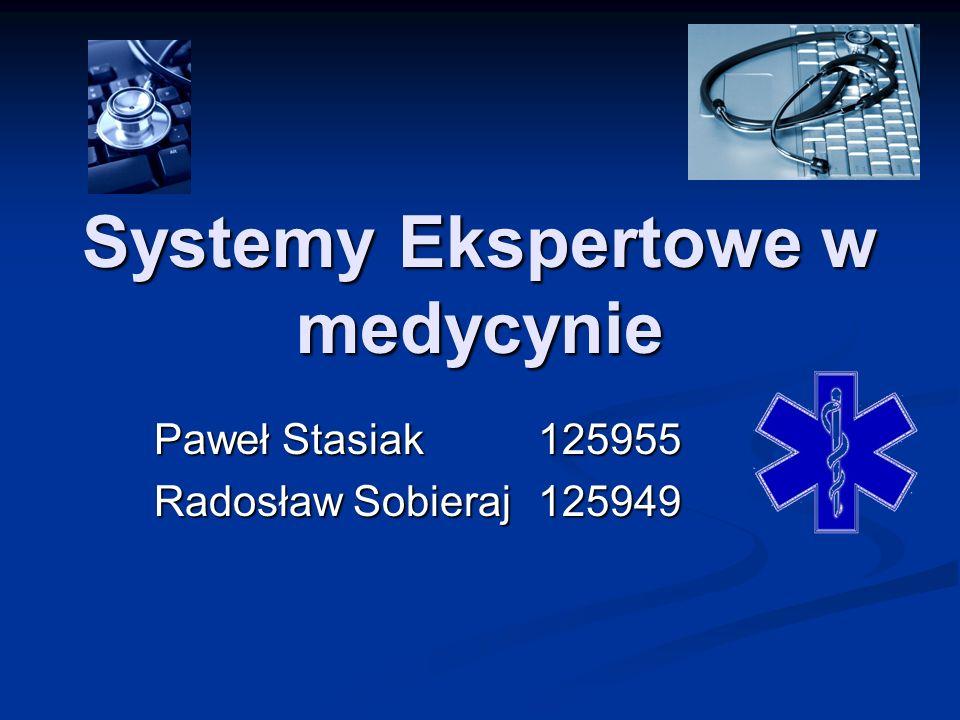 Systemy Ekspertowe w medycynie