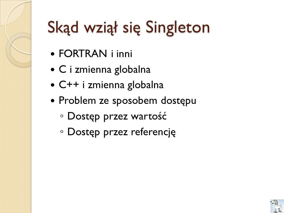 Skąd wziął się Singleton