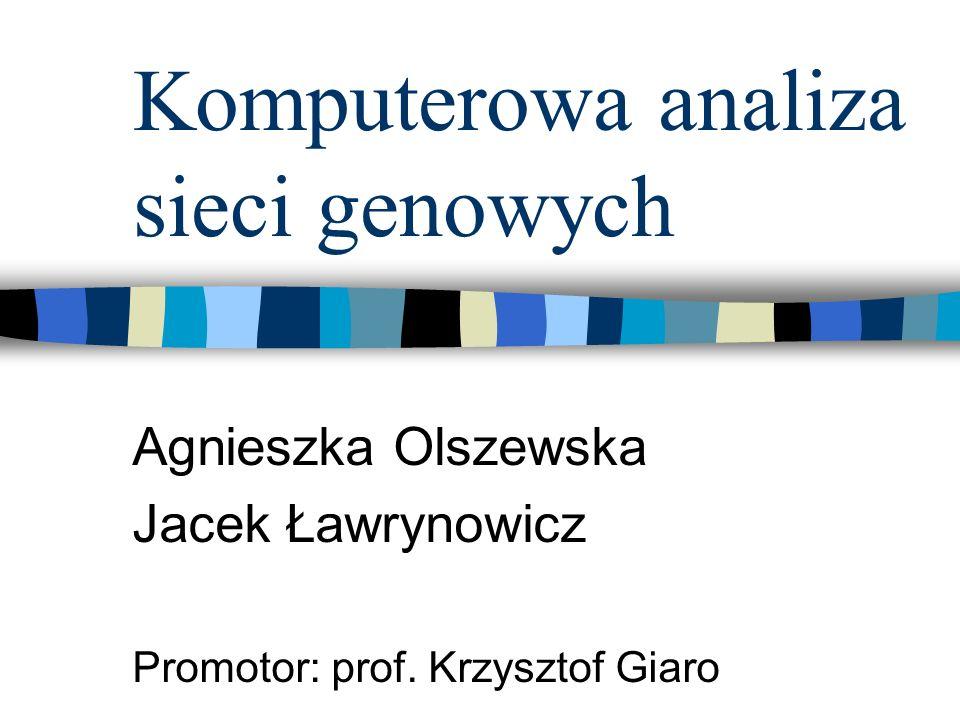 Komputerowa analiza sieci genowych