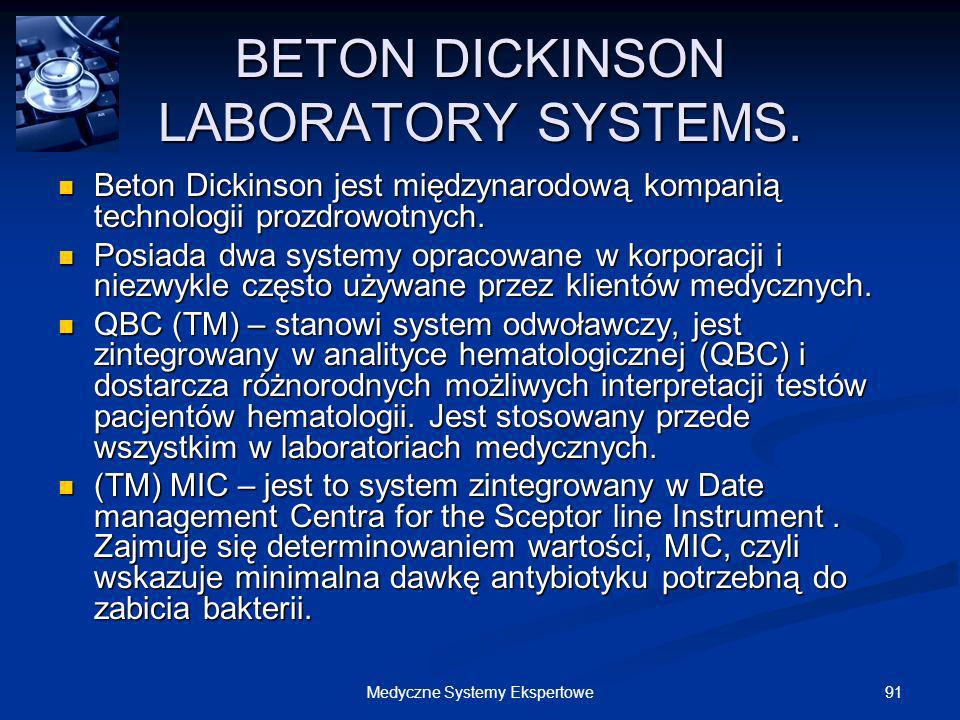 BETON DICKINSON LABORATORY SYSTEMS.
