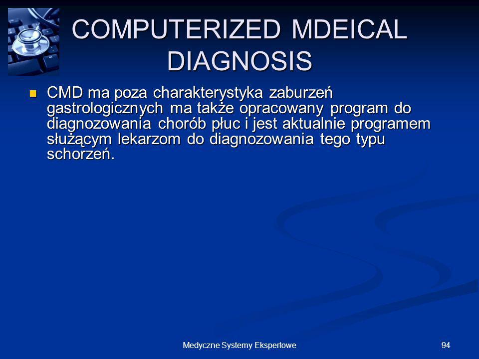 COMPUTERIZED MDEICAL DIAGNOSIS