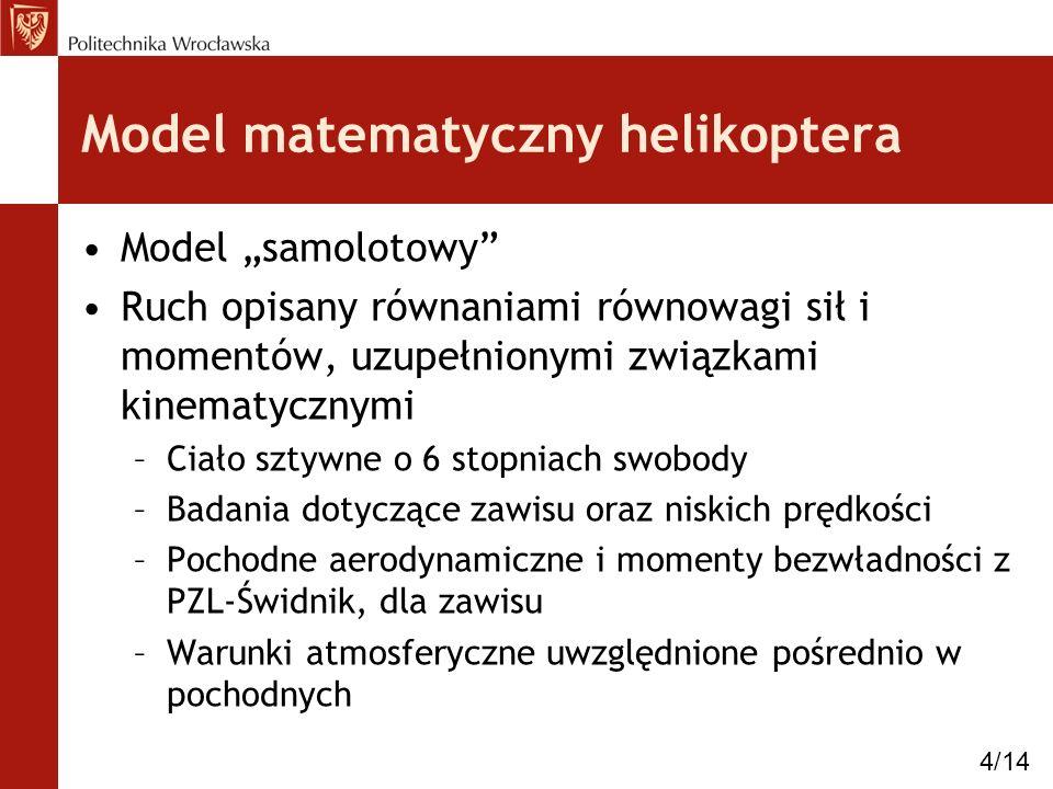 Model matematyczny helikoptera