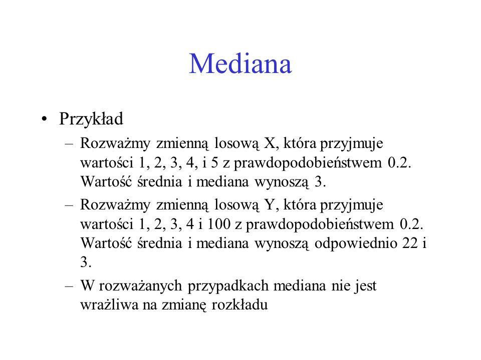 Mediana Przykład.