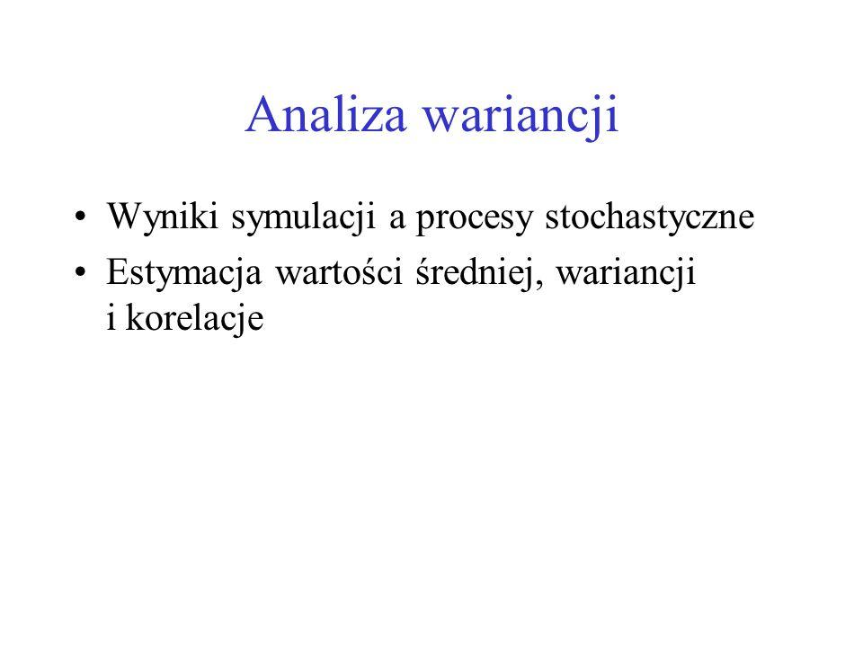 Analiza wariancji Wyniki symulacji a procesy stochastyczne