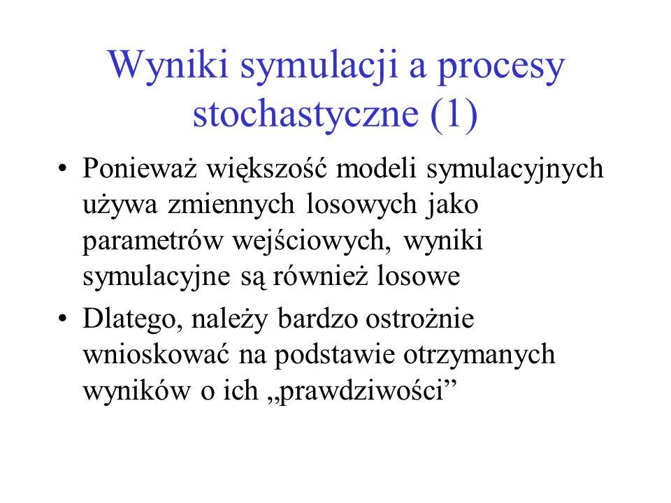 Wyniki symulacji a procesy stochastyczne (1)