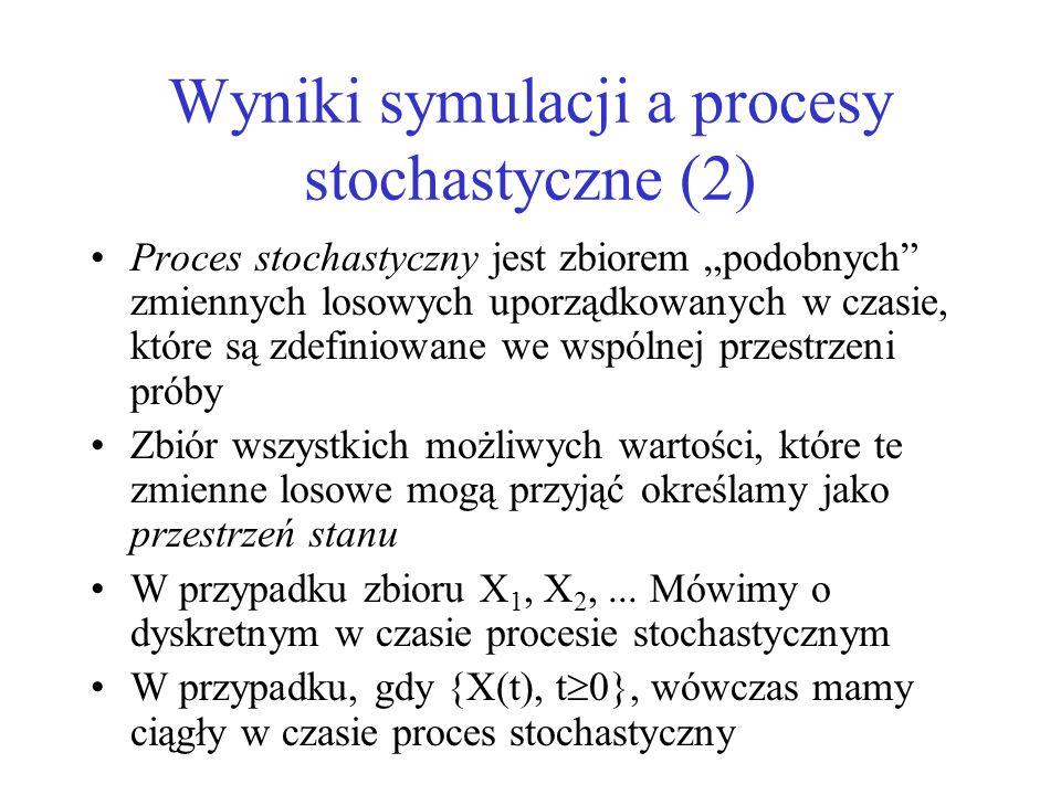 Wyniki symulacji a procesy stochastyczne (2)