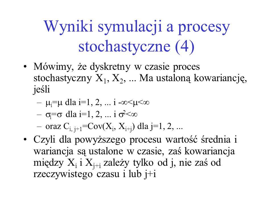 Wyniki symulacji a procesy stochastyczne (4)