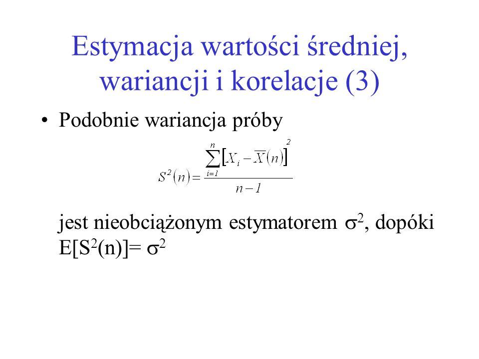 Estymacja wartości średniej, wariancji i korelacje (3)