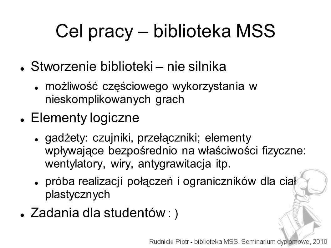Cel pracy – biblioteka MSS