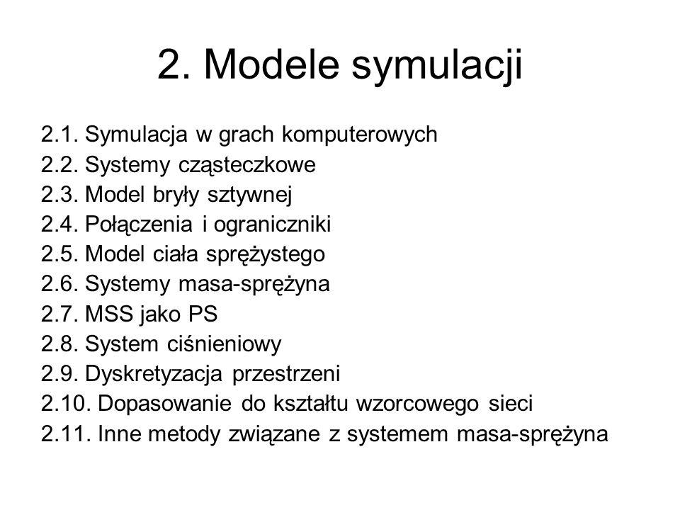 2. Modele symulacji 2.1. Symulacja w grach komputerowych