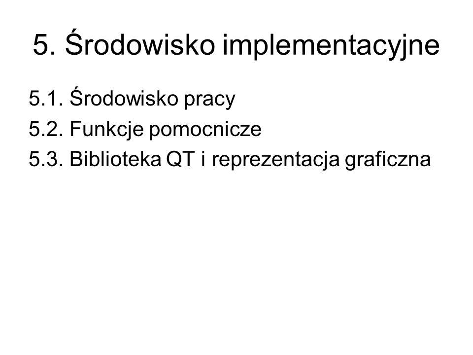5. Środowisko implementacyjne