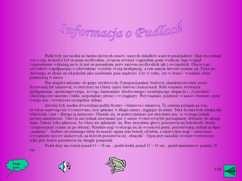 Informacja o Pudlach