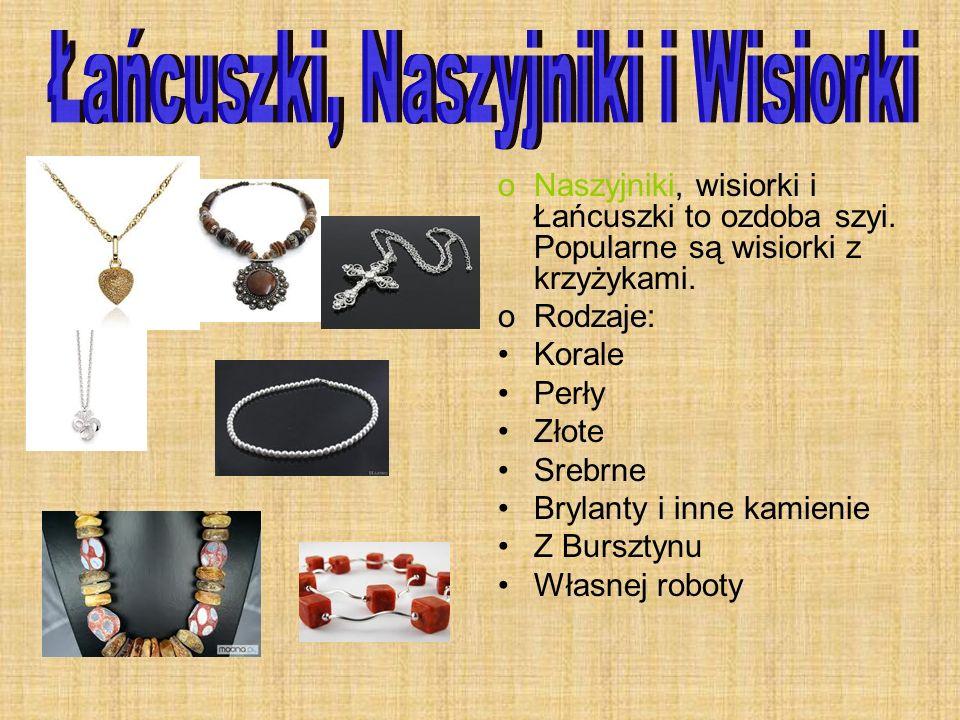 Łańcuszki, Naszyjniki i Wisiorki