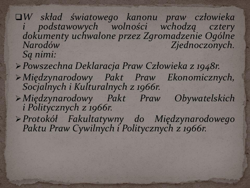 Powszechna Deklaracja Praw Człowieka z 1948r.