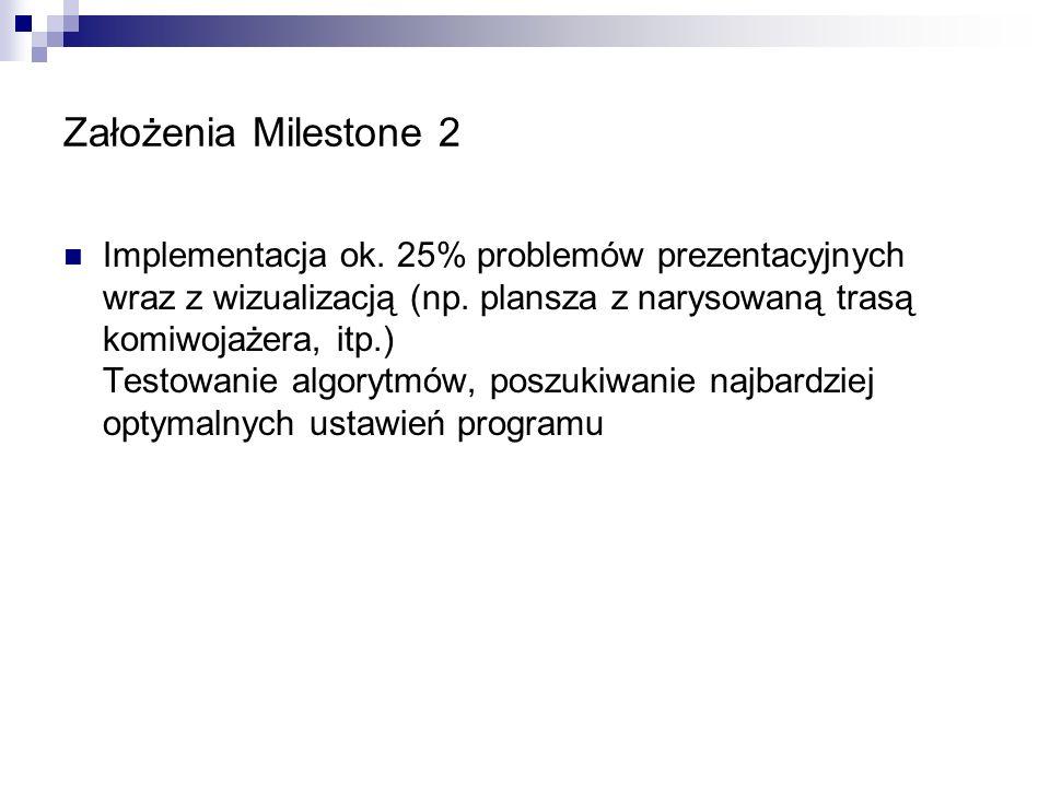 Założenia Milestone 2