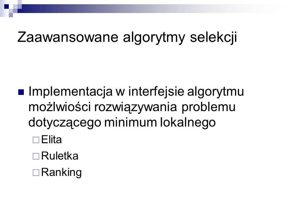 Zaawansowane algorytmy selekcji