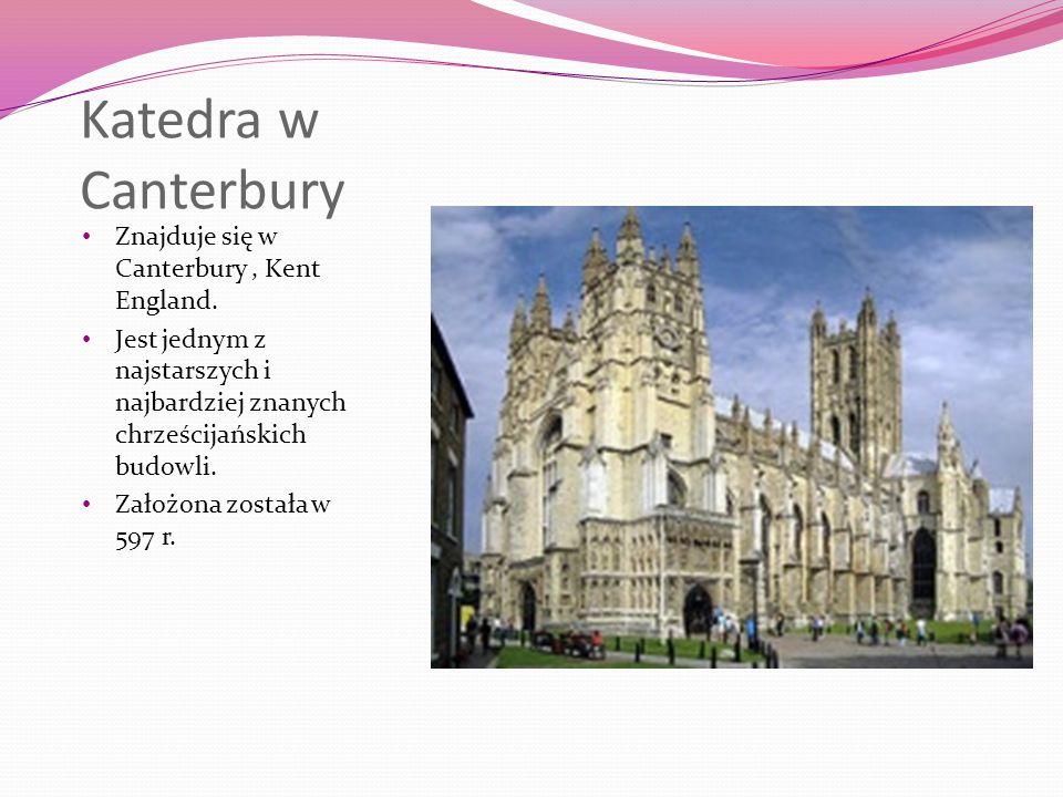 Katedra w Canterbury Znajduje się w Canterbury , Kent England.