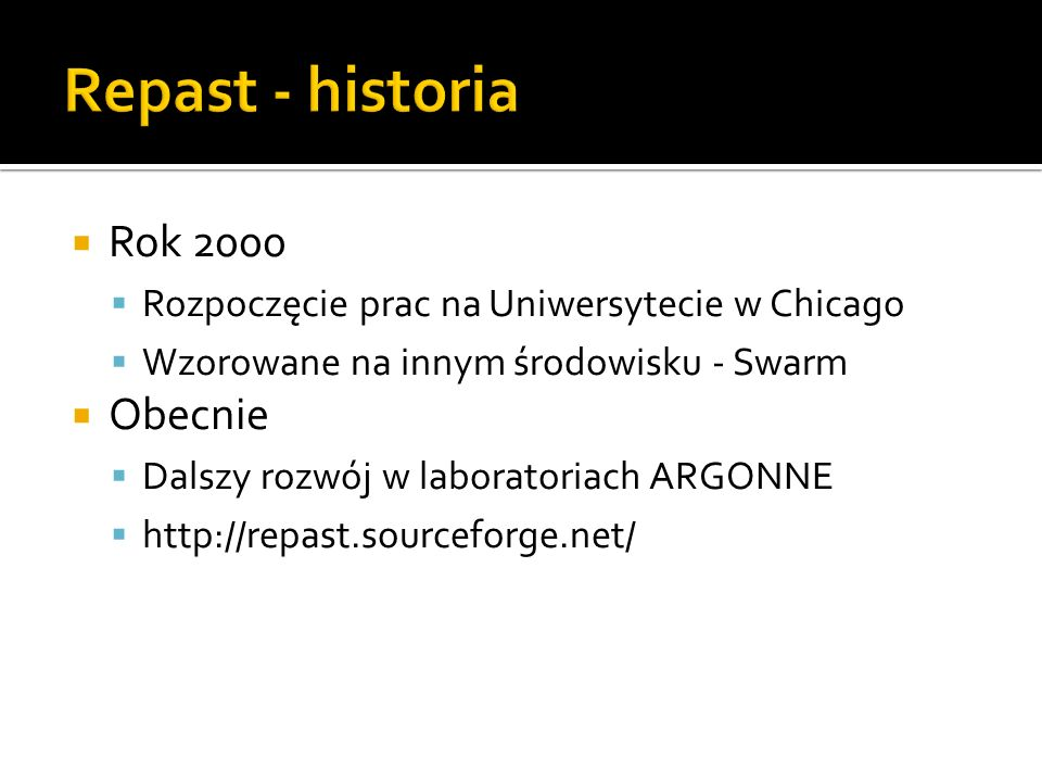 Repast - historia Rok 2000 Obecnie
