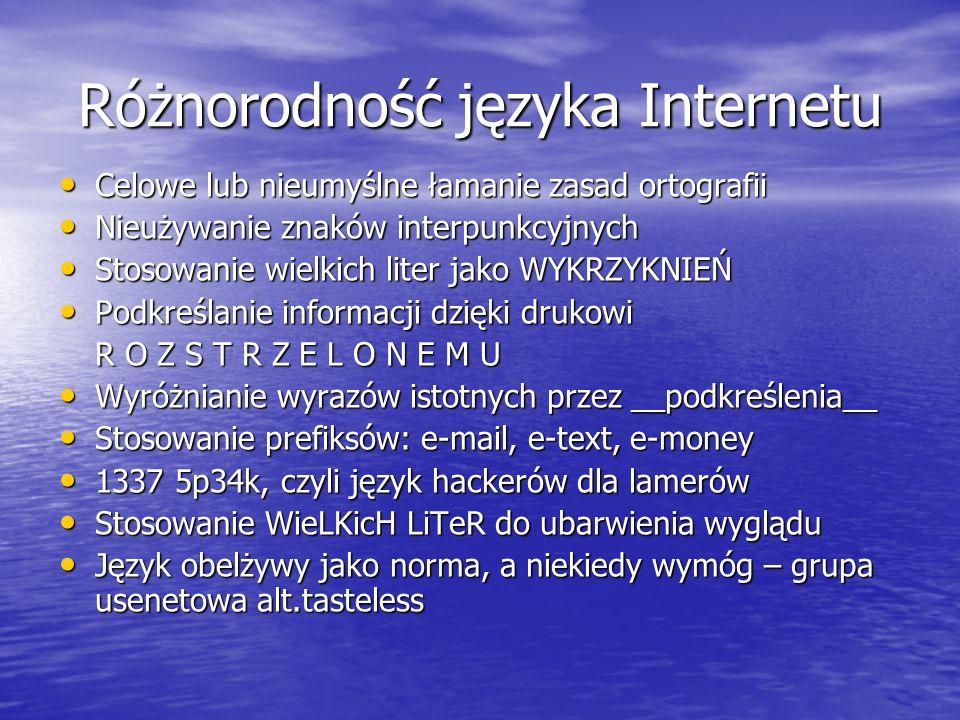 Różnorodność języka Internetu