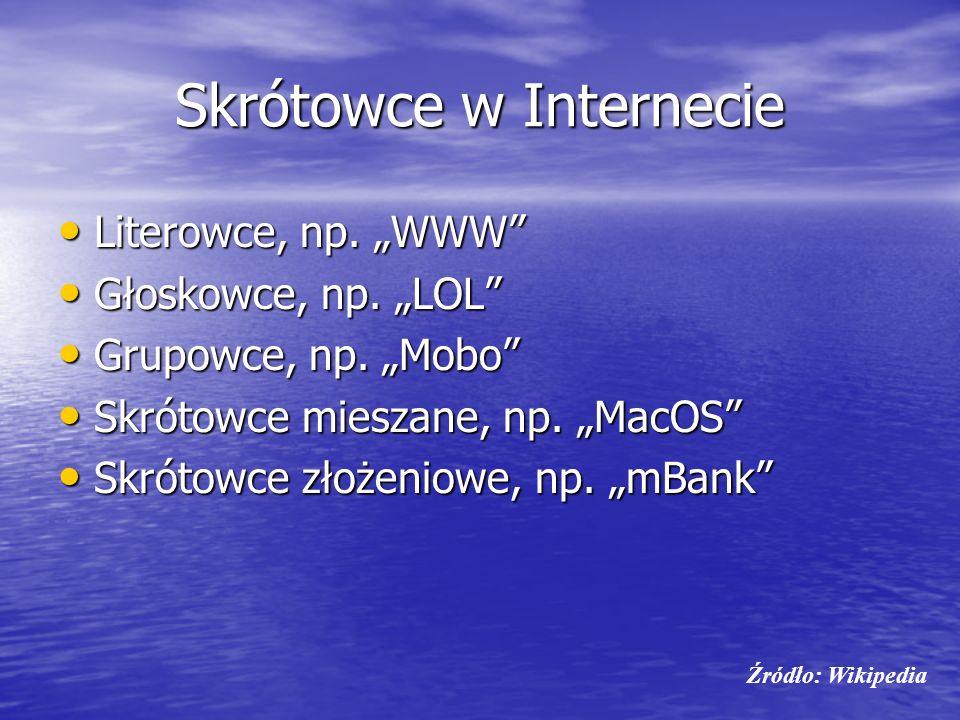 Skrótowce w Internecie