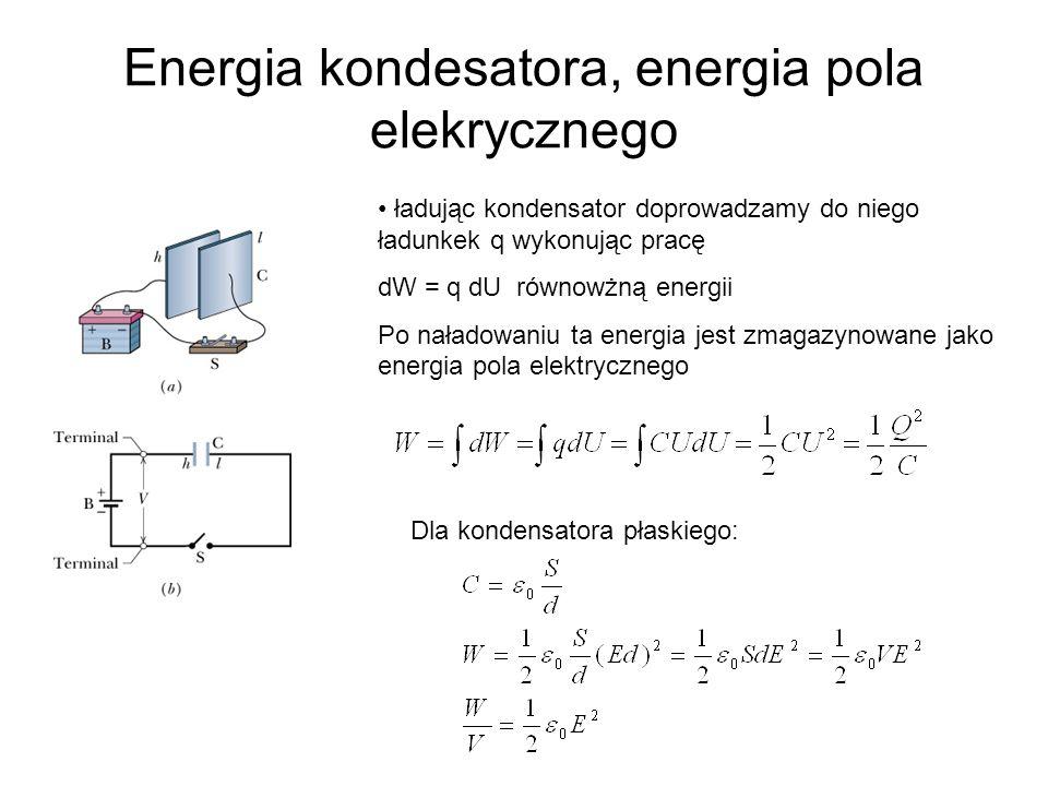 Energia kondesatora, energia pola elekrycznego