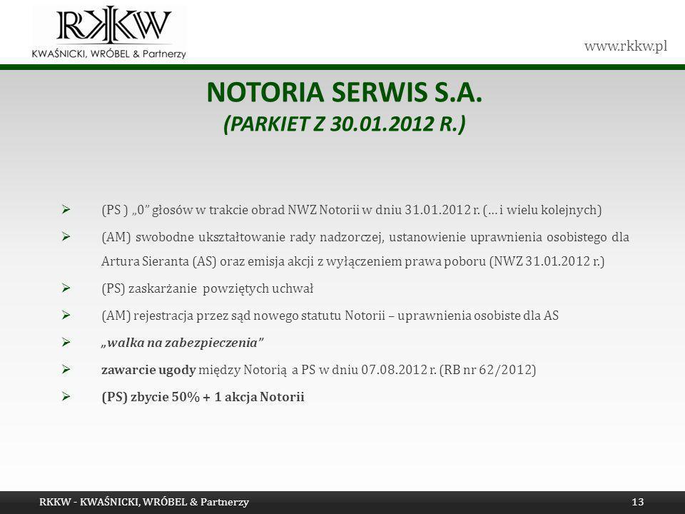 Notoria Serwis S.A. (Parkiet z 30.01.2012 r.)
