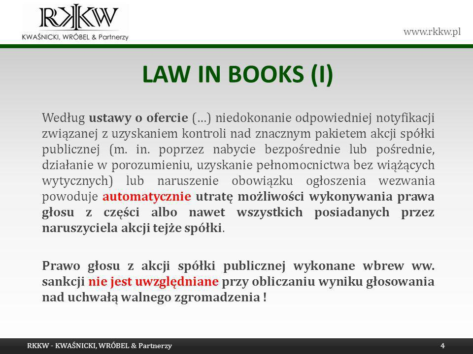 Law in books (i)