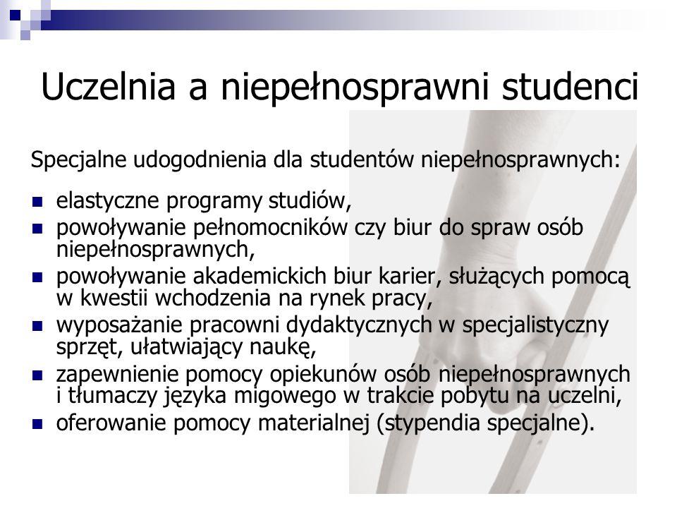 Uczelnia a niepełnosprawni studenci