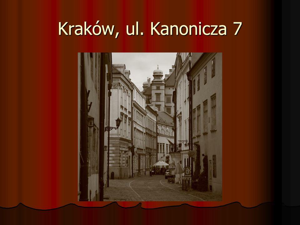 Kraków, ul. Kanonicza 7