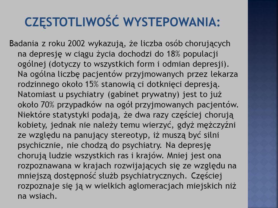 CZĘSTOTLIWOŚĆ WYSTEPOWANIA: