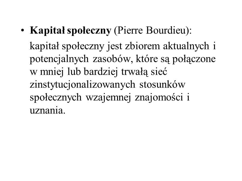 Kapitał społeczny (Pierre Bourdieu):